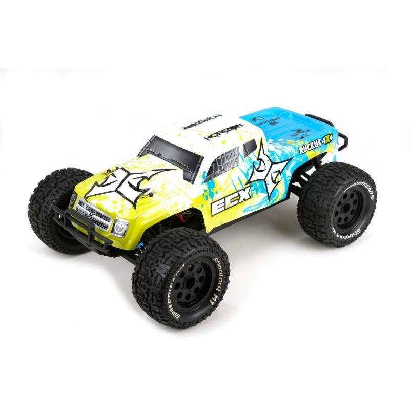ECX Ruckus 1/10 4WD Monster Truck RTR (harjadega mootor)