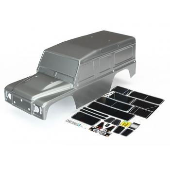Body, Land Rover Defender, graprearte Silver +Decals