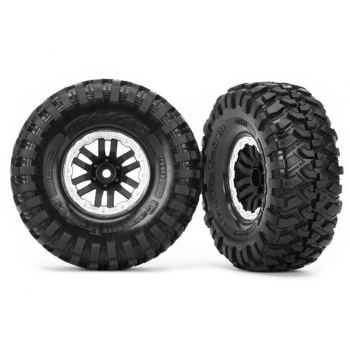 "Tires and wheels, assembled, glued (TRX-4® 1.9"" satin beadlock wheels, Canyon Trail 4.6x1.9"" tires) (2)"