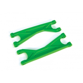 Suspension arms, green, upper (left or right, front or rear), heavy duty (2)