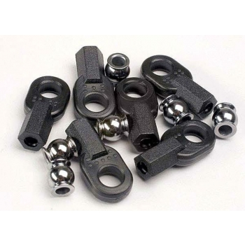 Rod ends, long (6)/ hollow ball connectors (6)