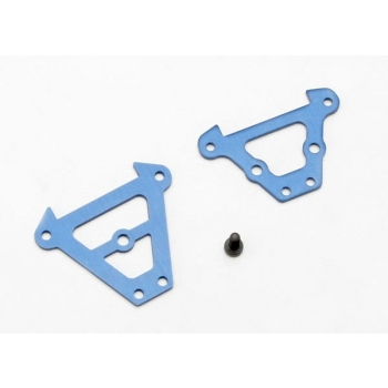 Bulkhead tie bars, front & rear (blue-anodized aluminum