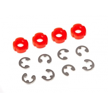 Piston, damper (red) (4)/ e-clips (8)