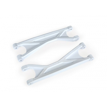 Suspension arms, white, upper (left or right, front or rear), heavy duty (2)