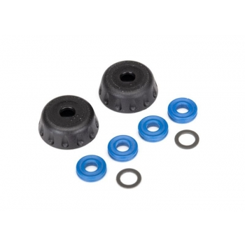 Double seal kit, GTR shocks (x-rings (4)/ 4x6x0.5mm PTFE coated washers (2)/ bottom caps (2)) (renews 2 shocks