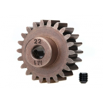Gear, 22-T pinion (1.0 metric pitch) (fits 5mm shaft)