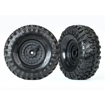 """Tires and wheels, assembled, glued (Tactical 1.9"""" wheels, Canyon Trail 4.6x1.9"""" tires) (2)"""