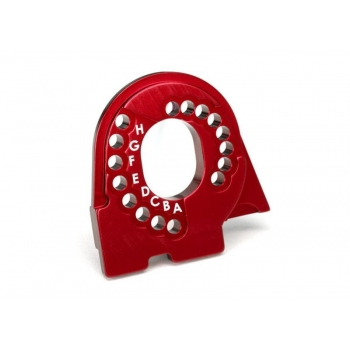Motor mount plate, 6061-T6 aluminum (red-anodized)