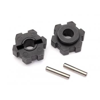 Wheel hubs, hex (2)/ 2.5x14 pins (2)