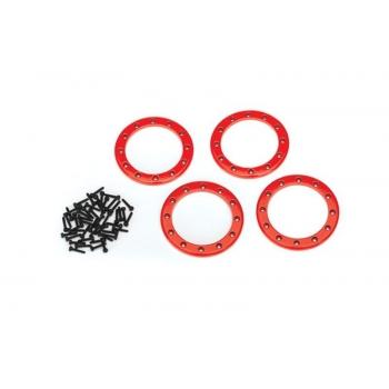 Beadlock Rings Red (2.2') Alu (4) + Screw