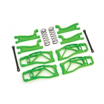 Suspension kit WideMaxx green Suspension arms, toe links +springs rear