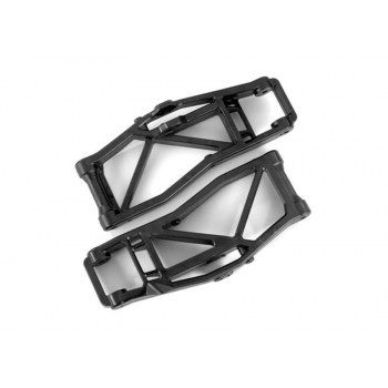 Suspension arms, lower, black (left and right, front or rear) (2) (for use with #8995 WideMaxx? suspension kit)