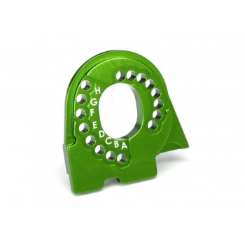 Motor mount plate, 6061-T6 aluminum (green-anodized)