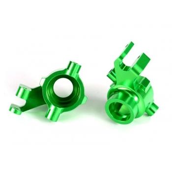 Steering blocks l/r Alu green