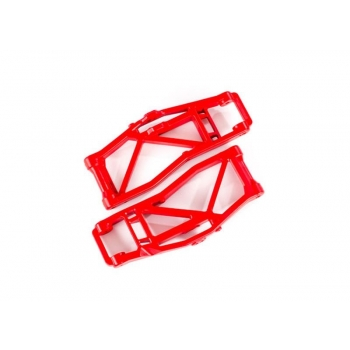 Suspension arms, lower, red (left and right, front or rear) (2) (for use with #8995 WideMaxx? suspension kit)