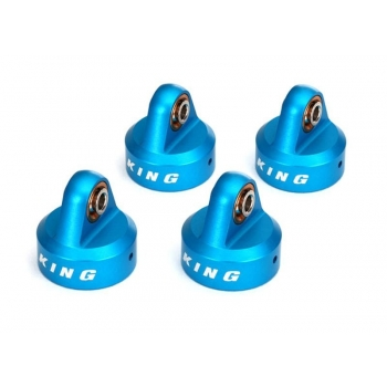Shock caps Alu Blue Anodized, King Shocks (4)