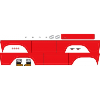 Decal sheet, Bronco, red (fits #8010 body)