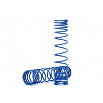 Spring, shock, front (blue) (GTR) (progressive, 0.833 rate, white stripe) (2)
