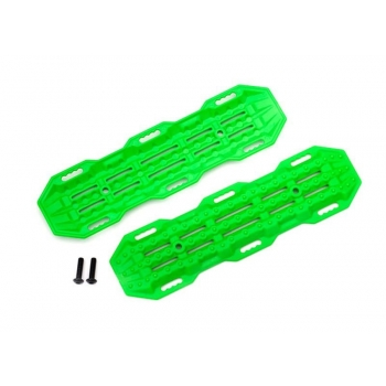 Traction boards, green/ mounting hardware