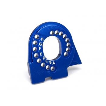 Motor mount plate, 6061-T6 aluminum (blue-anodized)