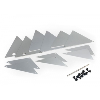 Tube chassis-Chassis inner-Panel Set Alu Silver