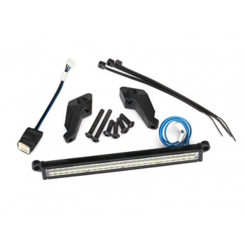 LED light bar, front (high-voltage) (52 white LEDs (double row),100mm wide)
