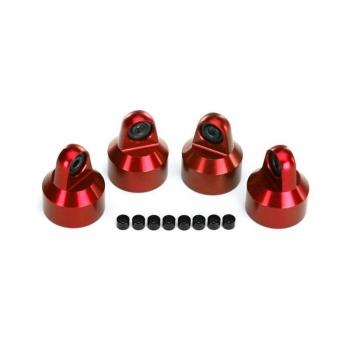 Shocks caps, Alu (Red-Anodized), GTX Shocks (4)/ adjusters