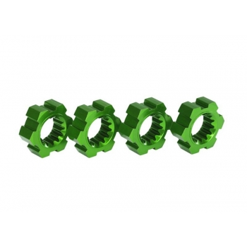 Wheel hub, hex, Alu (green-Anodized) (4)