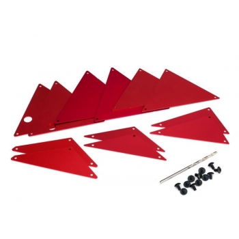 Tube chassis-Chassis inner-Panel Set Alu Red