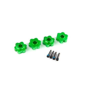 Wheel hubs, hex Alu green