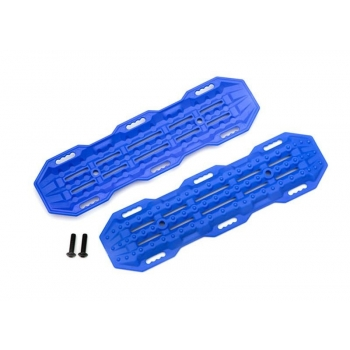 Traction boards, blue/ mounting hardware