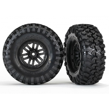 """Tires and wheels, assembled, glued (TRX-4® 1.9"""" wheels, Canyon Trail 4.6x1.9"""" tires) (2)"""