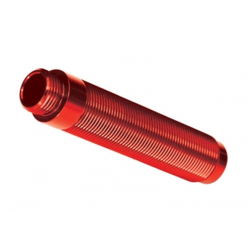 Body, GTS shock, long (aluminum, red-anodized) (1) (for use with #8140R TRX-4® Long Arm Lift Kit)