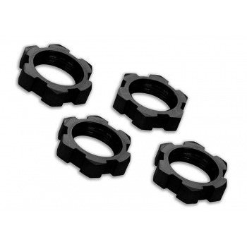wheels-Nuts splined 17mm serrated Black (4)