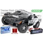 Traxxas Slash 4X4 TSM Brushless+Gensace 5000mAh 2S liPo aku + Redox Alpha V3 laadija