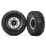 "Tires and wheels, assembled, glued (TRX-4® 1.9"" satin beadlock wheels, Canyon Trail 4.6x1.9"" tires) (2)"
