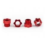 Stub axle nut, aluminum (Red-Anodized) (4)