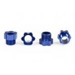 Stub axle nut, aluminum (Blue-Anodized) (4)