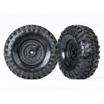 "Tires and wheels, assembled, glued (Tactical 1.9"" wheels, Canyon Trail 4.6x1.9"" tires) (2)"