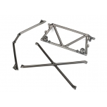 Tube chassis, center support/ cage top/ rear cage support (satin black chrome-plated)