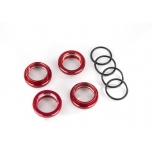Spring retainer (adjuster) Alu Red GT-Maxx (4) (with O-Ring)