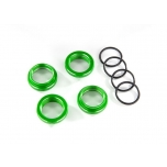 Spring retainer (adjuster) Alu green GT-Maxx (4) (with O-Ring)