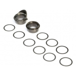 Rear Gearbox Bearing Inserts, Aluminum: 8X