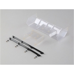 TLR Polycarbonate Wing, Pre Cut,Clear: 8/E/T 4.0 / X