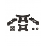 Team Associated Front and Rear Shock Towers and Wing Mounts Set (Reflex 14)