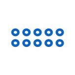 Bulkhead Washers, 7.8x0.5 mm, blue aluminum
