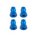 Shock Bushings, 10 mm, blue aluminum