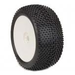 AKA I-Beam (Soft) 1:8 Truggy tires on EVO white rims (2 pcs)