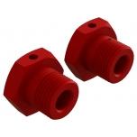 Arrma Aluminum Wheel Hex 17mm Red (2)