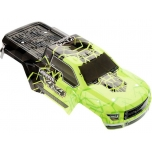 Arrma Body Painted/Decal Green Granite 4x4 Mega